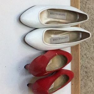 NWT Naturalizer Heels Duo Red White S4.5